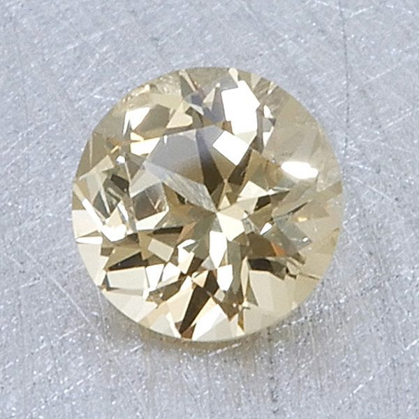 golden yellow grossular garnet - round brilliant cut