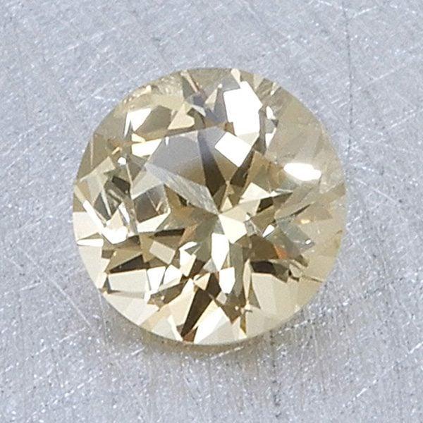 golden yellow grossular garnet - round brilliant cut