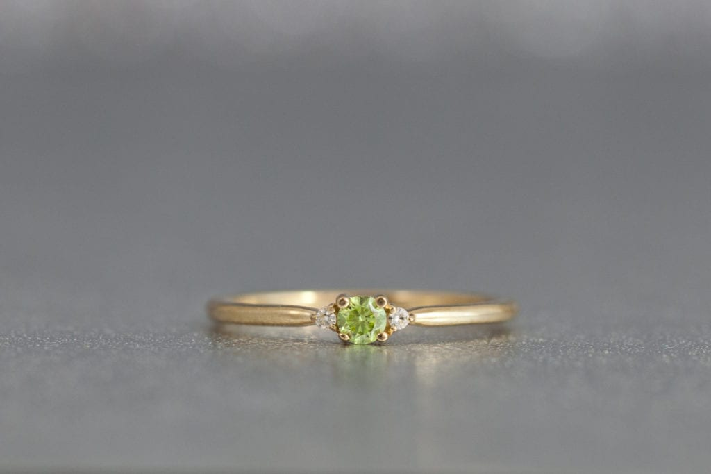 green diamond - colored gemstone engagement rings