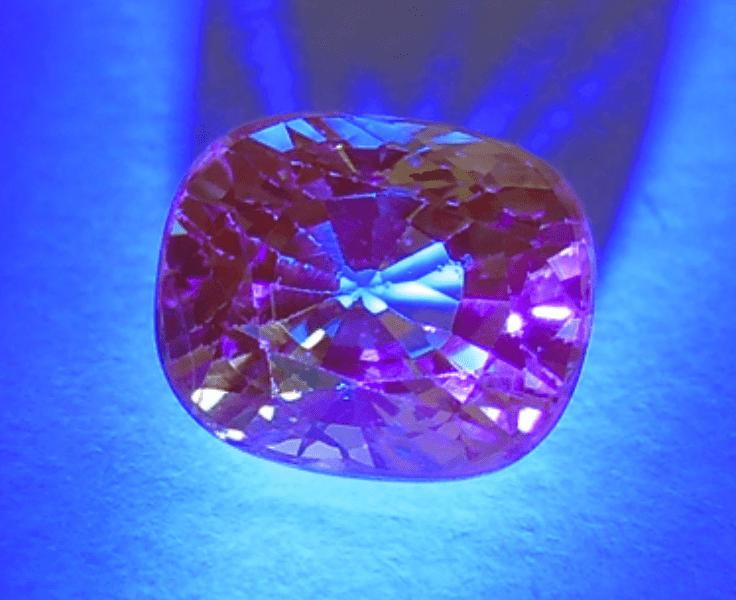 grossular - UV light