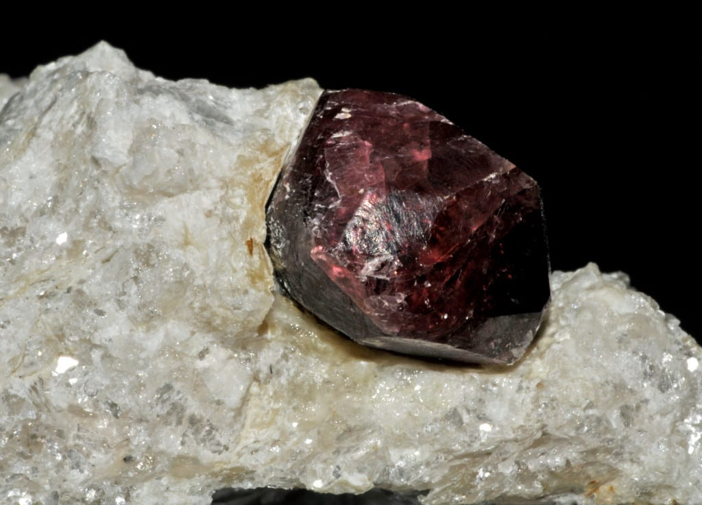pyrope garnet on matrix