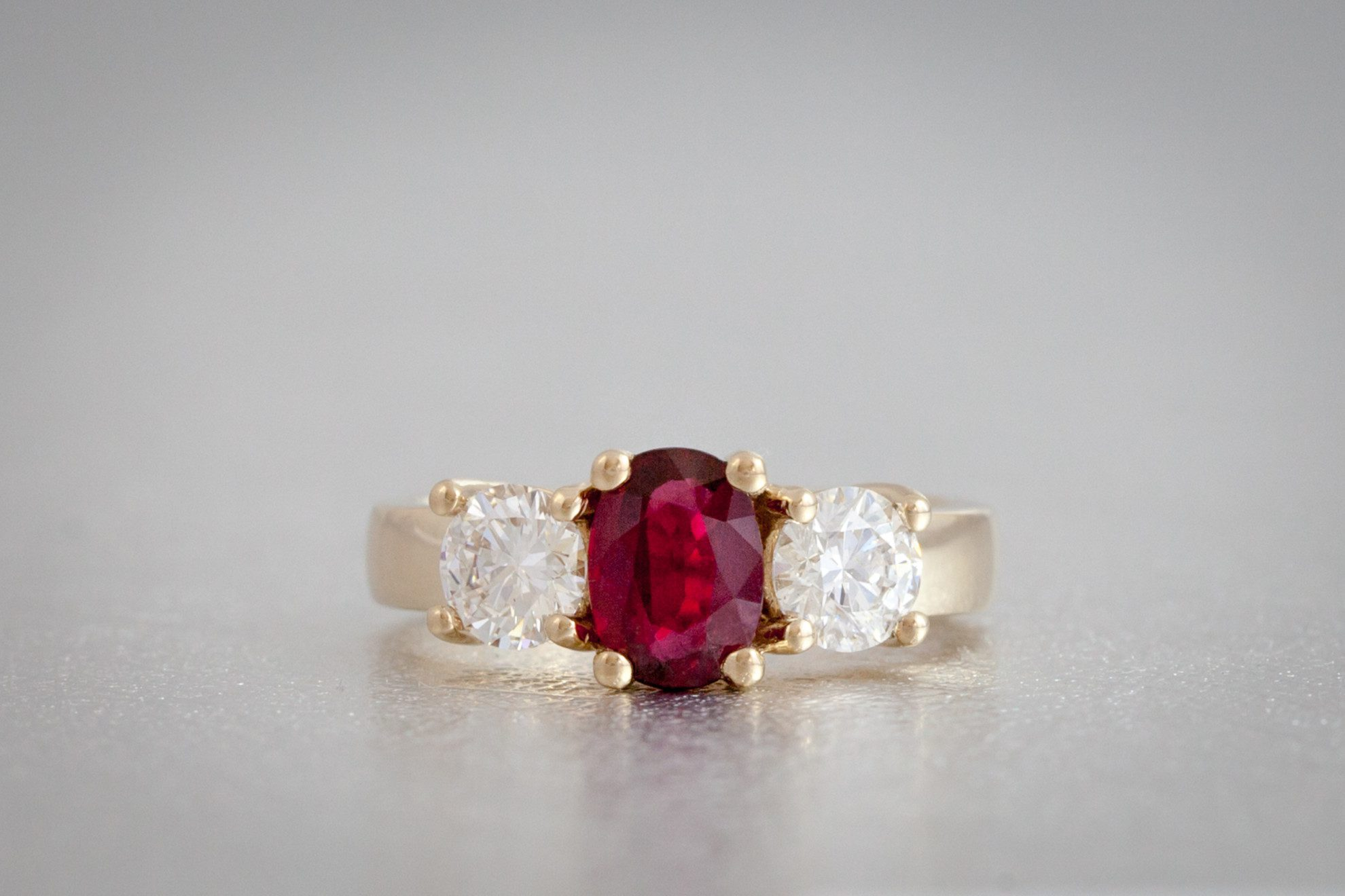 diamond kind gallery of ruby rings bayco one ring jewelry a lyst red in