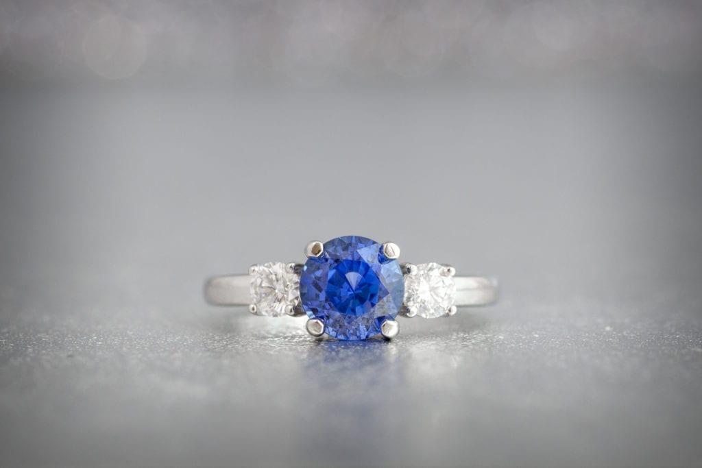 sapphire - colored gemstone engagement rings
