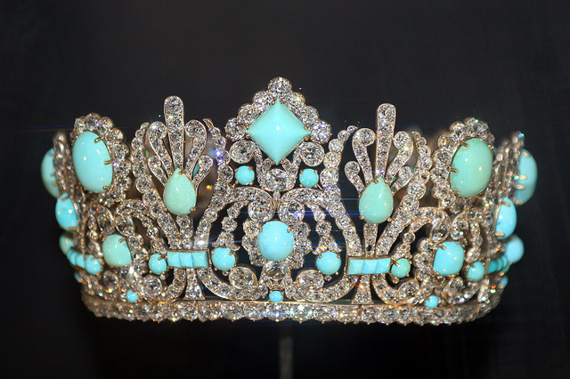 Maria Louise Diadem - Persian turquoise