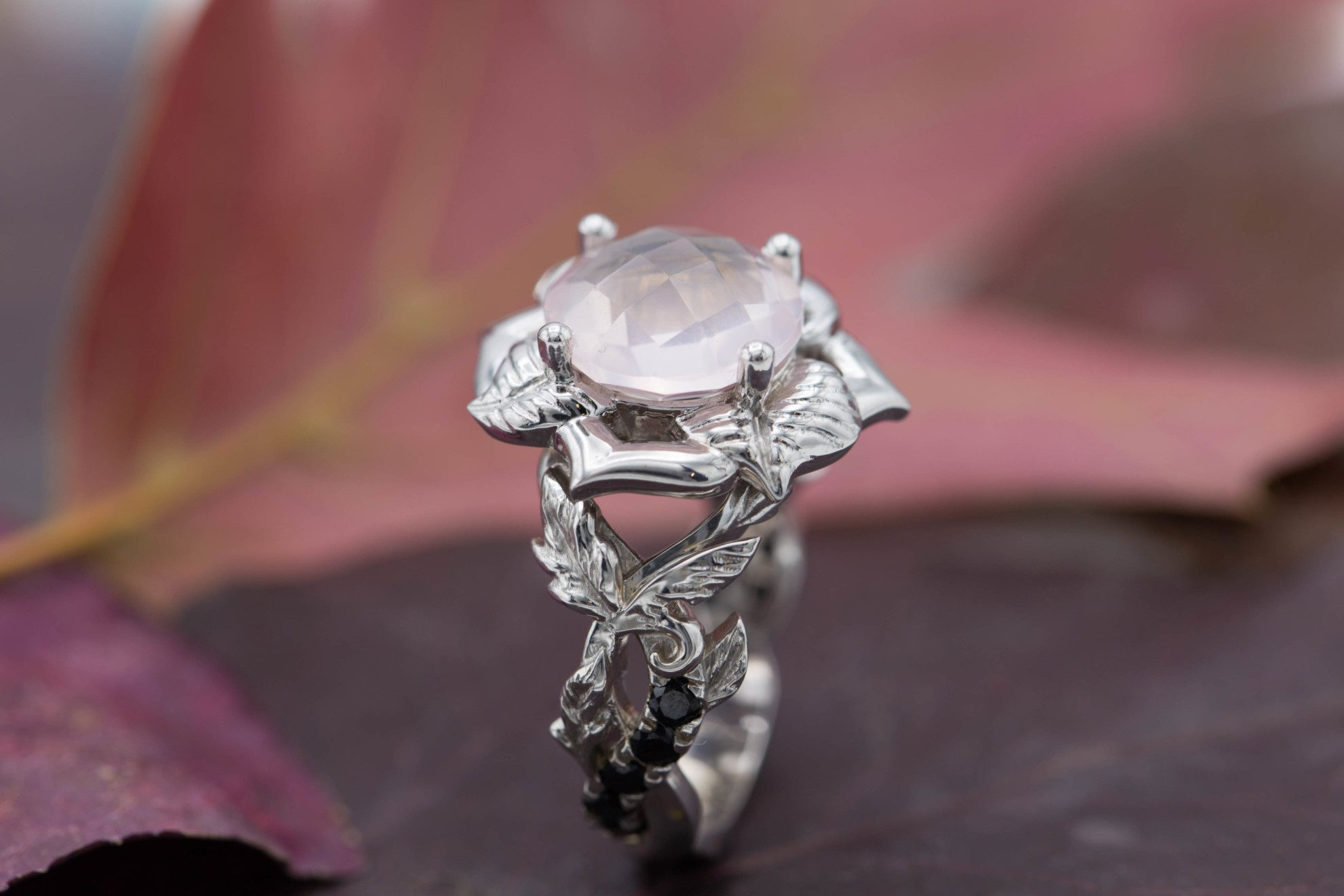 rose quartz floral ring 2