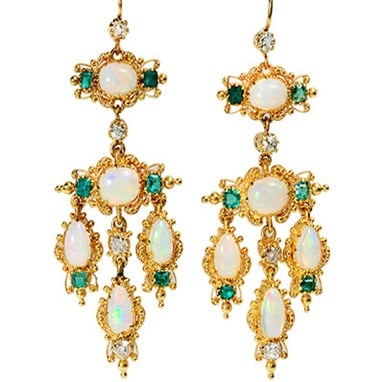 Girandole Earrings - Romantic Period jewelry