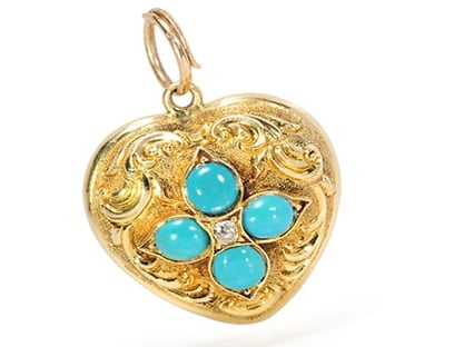 Gold Locket - Victorian Period jewelry