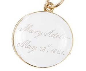 Memorial Locket Victorian Period