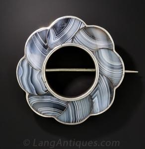 Scottish Agate Brooch