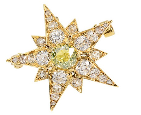 Starburst Brooch - Aesthetic Period jewelry