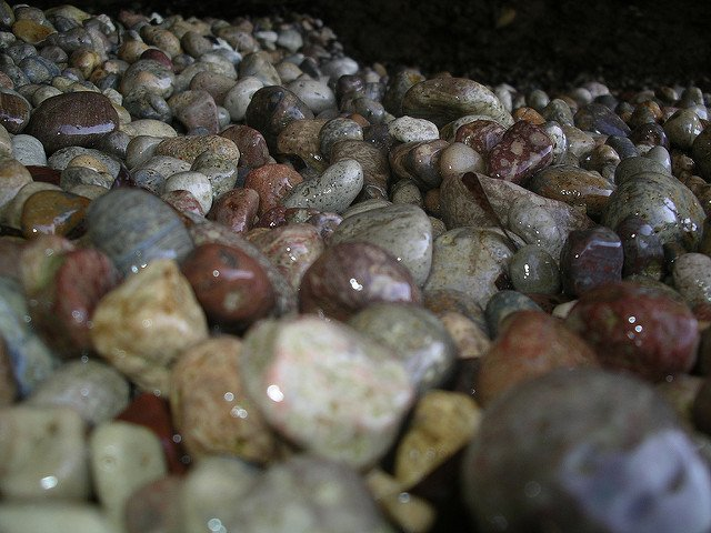 gemstone personality - stones on a beach