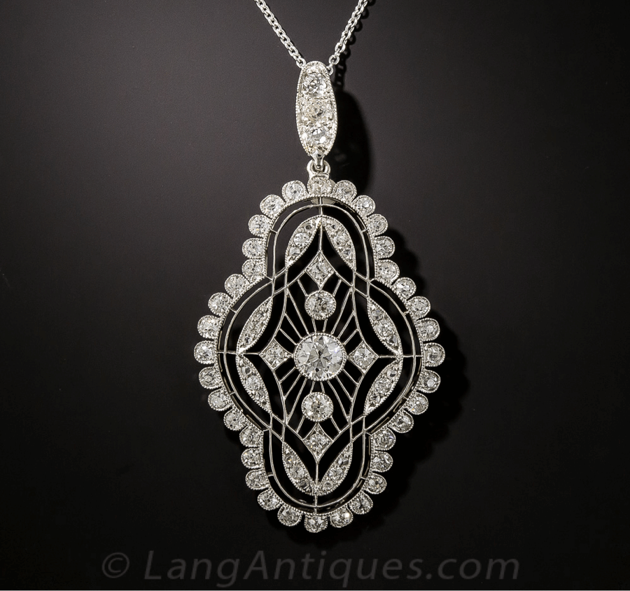 Belle Époque Jewelry Edwardian Pendant
