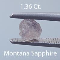 Fancy Round Brilliant Cut Sapphire, Montana, U.S.A., .46 cts