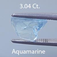Barion Square Cut Aquamarine, Nigeria, .77 cts