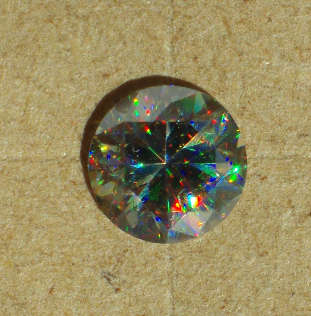 gemstone dispersion - rutile