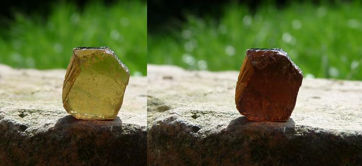 tourmaline - gemstone pleochroism
