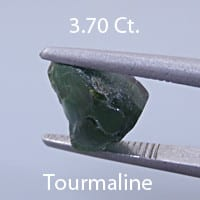Rough version of Fancy Elongated Radiant Emerald Cut Tourmaline