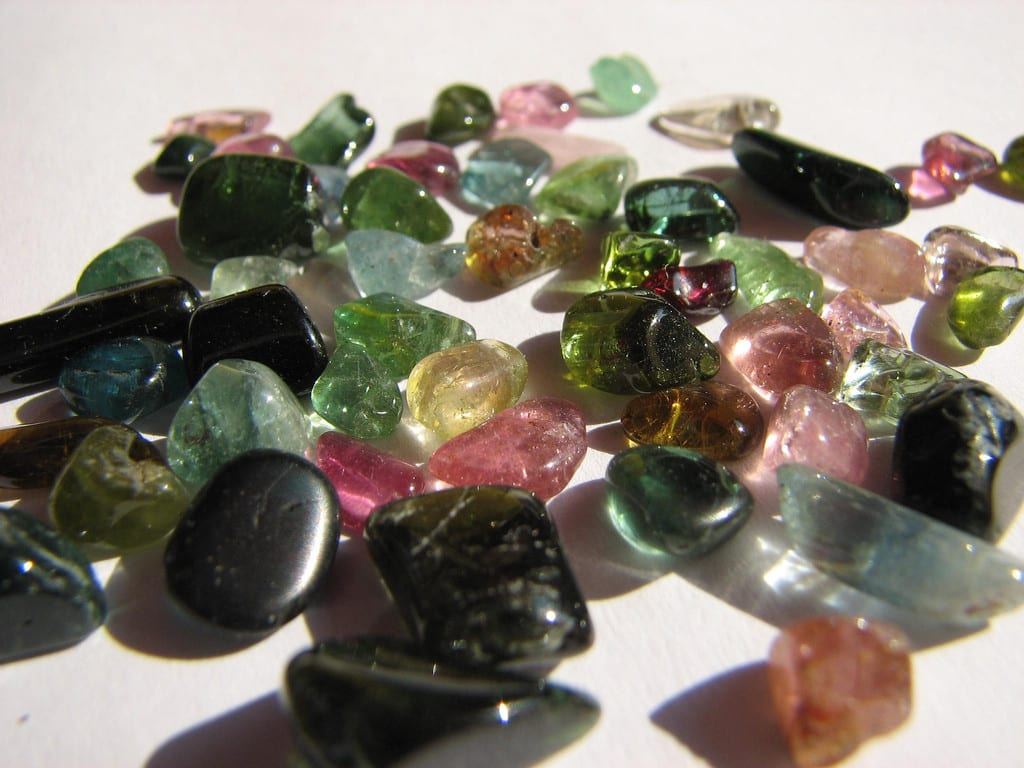 tourmalines - gemstone transparency