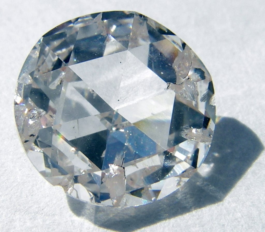 """Caption: This synthetic diamond was created through the CVD (Chemical Vapor Disposition) process. """"Diamond Age"""" by Steve Jurvetson is licensed under CC By 2.0"""