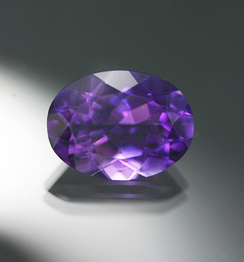 oval-cut amethyst - gemstone faceting yield