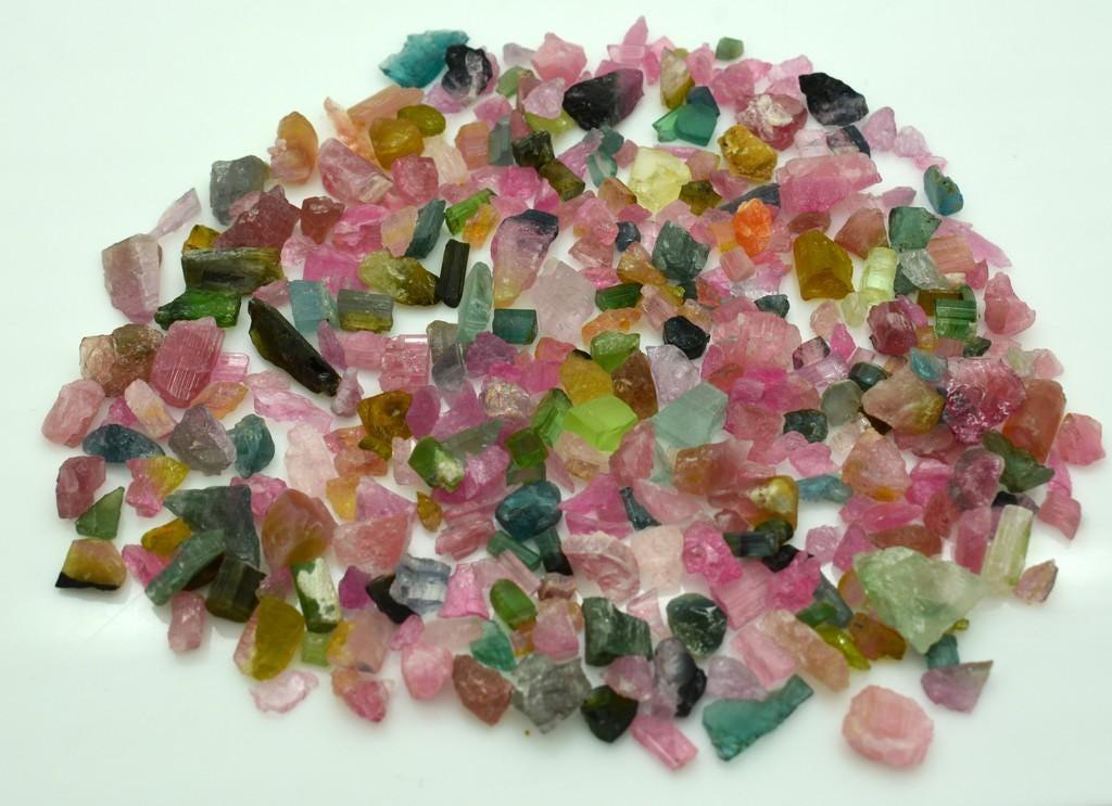 tourmaline - rough gemstones