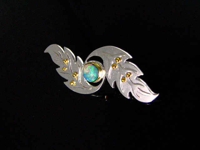 """Crystal Opal Brooch 2"" by Jessa and Mark Anderson is licensed under CC by 2.0"
