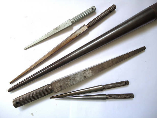"A variety of steel mandrels. ""My Studio"" by Mauro Cateb is licensed under CC By 2.0"