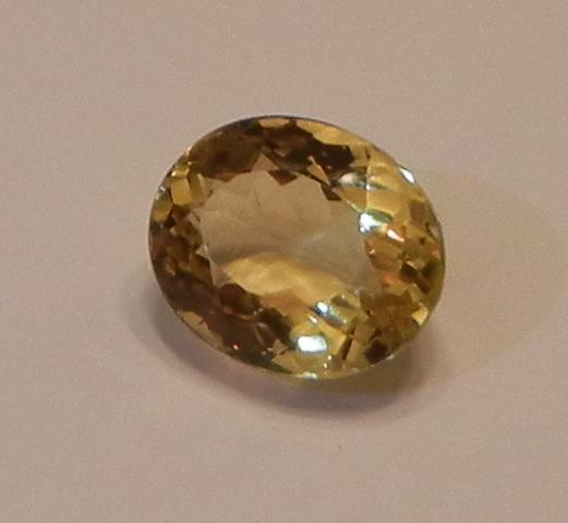 "The beryl family includes some of the most well-known gemstones, like emeralds, and some of the rarest, like red beryls. Golden beryls are beautiful stones in their own right and can make striking faceted gems for jewelry. ""Golden Beryl, Oval Cut"" by Pithecanthropus4152 is licensed under CC By-SA 3.0"