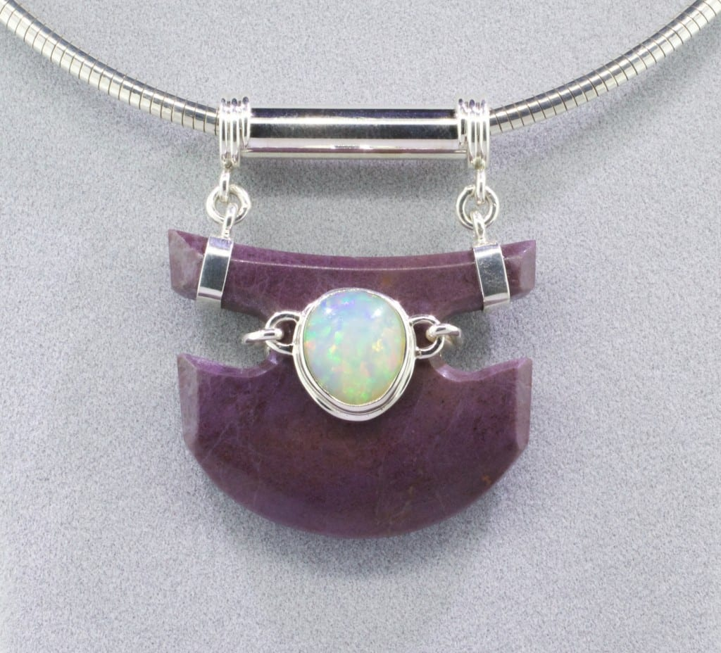 Turkish Purple Jade and Opal - Design by Mark Oros