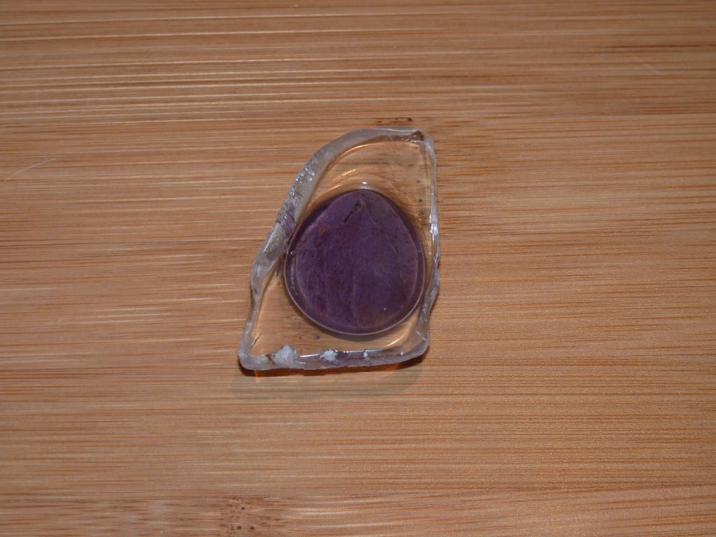 Quartz Cap for Turkish Purple Jade piece