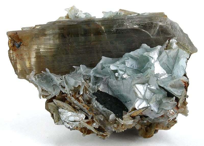 "Turkey's gemstones include many wonderful species, such as diaspore. ""Diaspore On Margarite."" © Rob Lavinsky, www.iRocks.com. Used with permission."