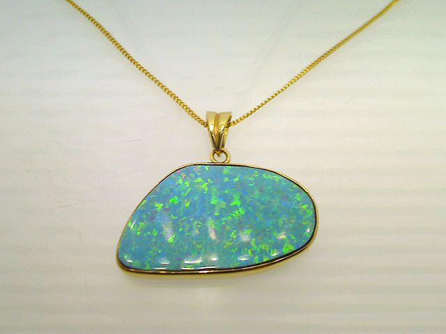 gemstone doublets - opal pendant