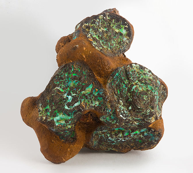 gemstone doublets - natural boulder opal