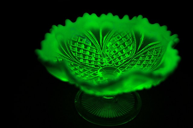 """Uranium Glass"" by UCL News is licensed under CC By-ND 2.0"