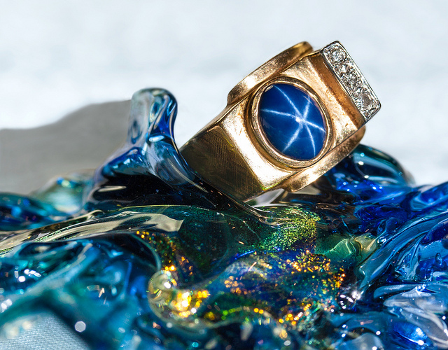 "Polishing sapphire gemstones can have amazing results. It can also be tough on laps. ""Star Sapphire"" by Sheila Sund is licensed under CC By 2.0"