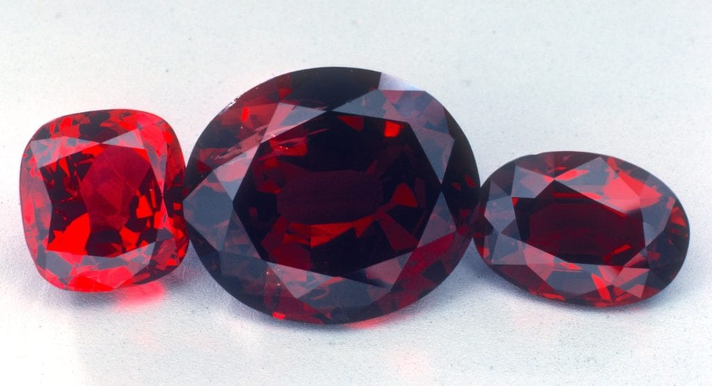 faceted rubies - various sources