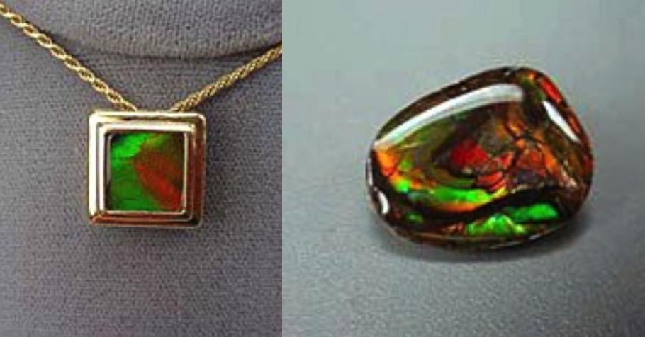 gemstone doublets - ammolite jewelry