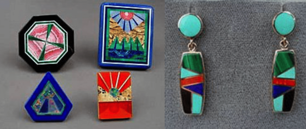 gemstone doublets - intarsia and inlay