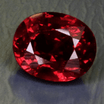 """3.03ct Oval Ruby,"" Winza, Tanzania, purplish red. ©All That Glitters. Used with permission."