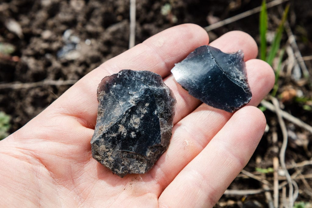 obsidian lithics - Yellowstone National Park