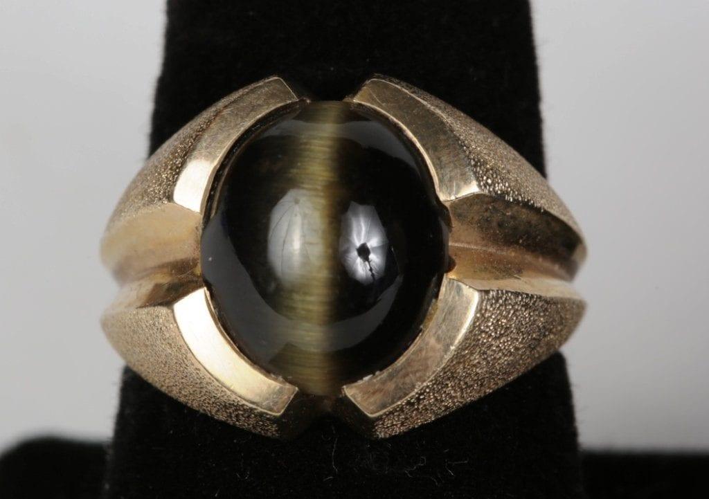 cat's eye obsidian ring