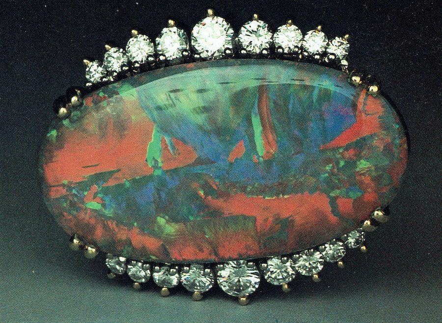 Black Opal ring 1 - opal gems