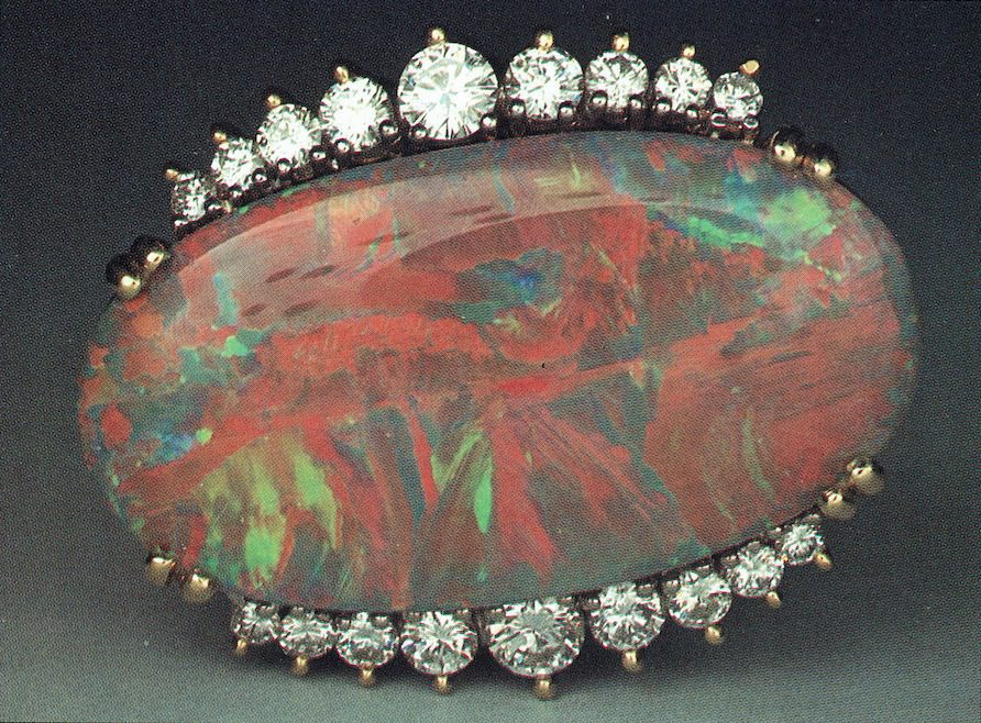 Black Opal ring 2 - opal gems
