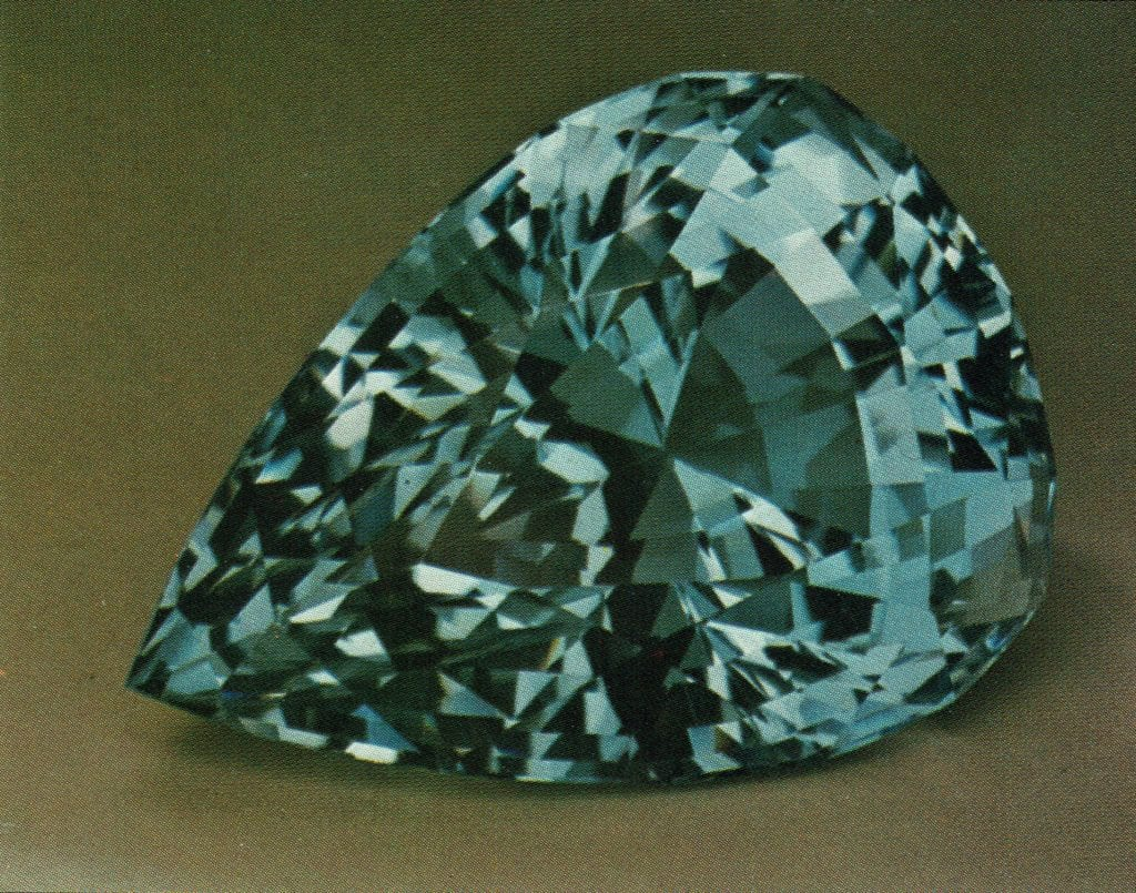 heated and irradiated blue topaz