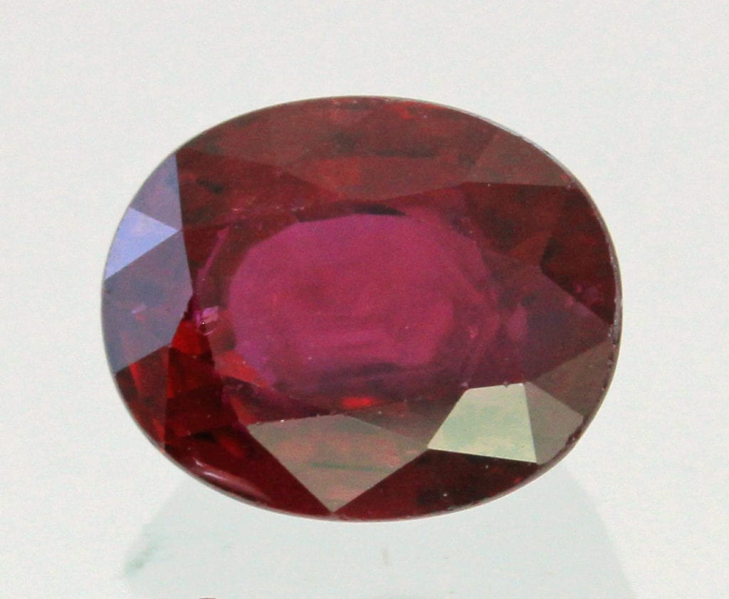 purplish red ruby - Myanmar