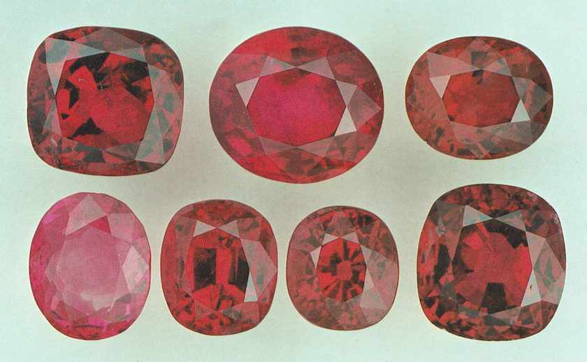 rubies - Thailand and Myanmar
