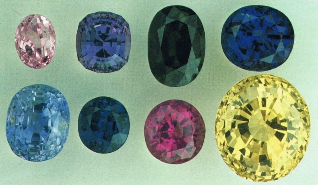 Sri Lankan sapphires