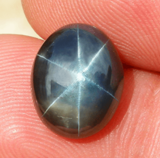"""5.79 ct. Star Sapphire,"" Thailand. © All That Glitters. Used with permission."