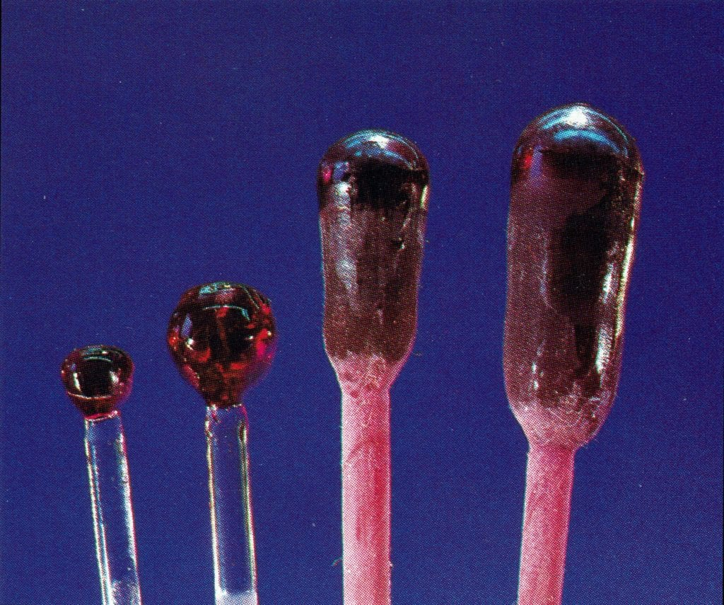 synthetic rubies - Verneuil boules