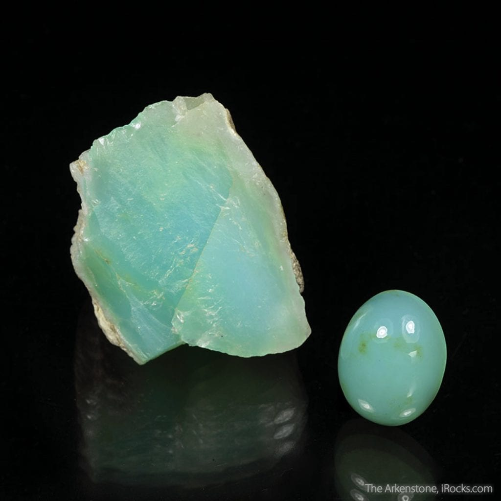 opal rough and cut set, Peru - opal gems